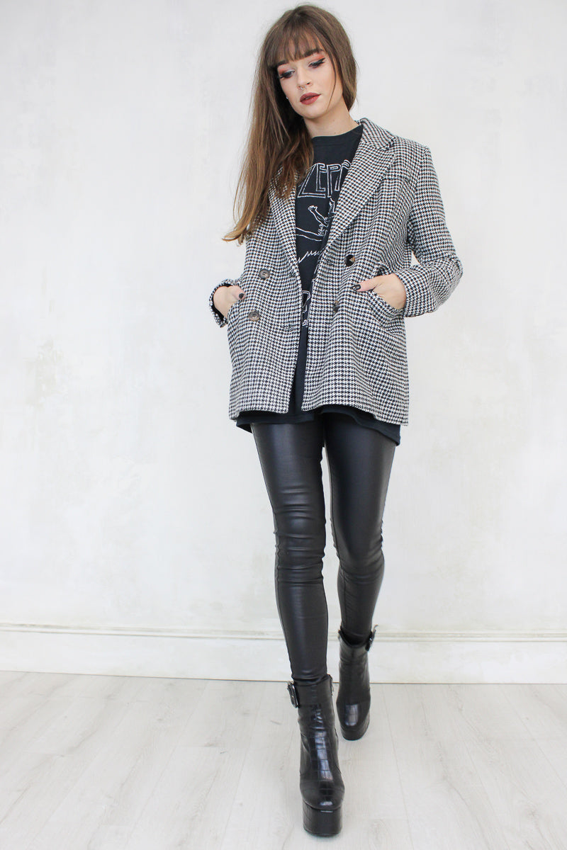She's Electric Dogtooth Blazer