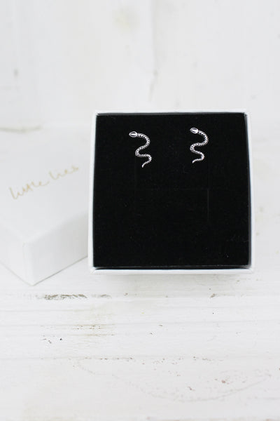 Sterling Silver Serpent Studs