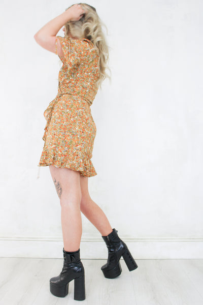 Penny Lane Floral Wrap Dress