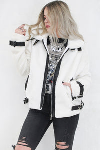 Night Flight Ivory Aviator Jacket