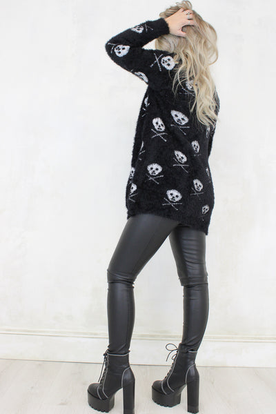 Lounge Act Skull Cardigan