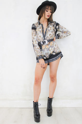 Day Tripper Paisley Playsuit