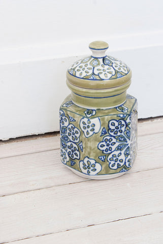 Lime Ceramic Painted Gypsy Jar - little-lies-uk