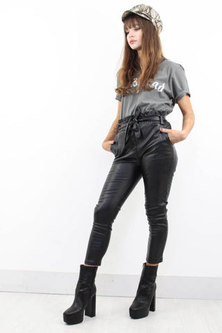Highway Child Leather Trousers - little-lies-uk