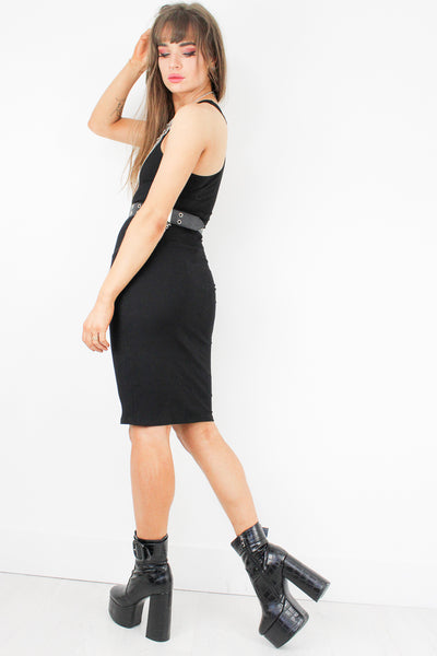 The Eternal Ribbed Midi Dress