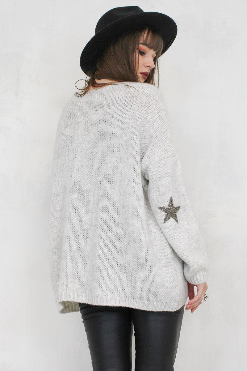 Lone Star Girl Grey Cardigan