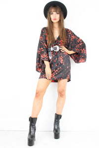 Midnight Boom Kimono Dress
