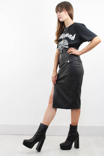 Hellraiser Biker Midi Skirt - little-lies-uk