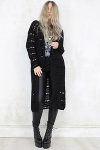 Hole in Your Heart Longline Cardigan