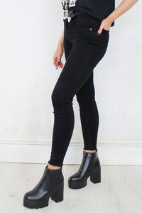 Bolan High Waisted Black Skinny Jeans