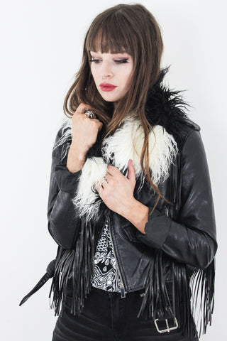 Faux Mongolian Fur Snood