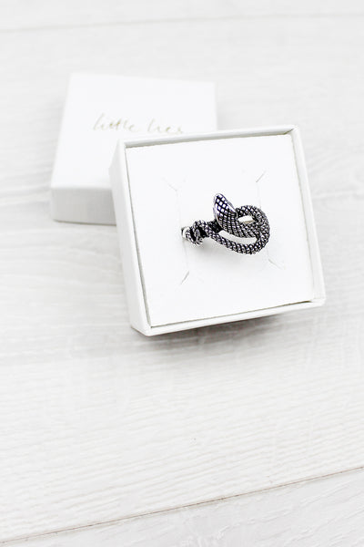 Sterling Silver Textured Snake Ring