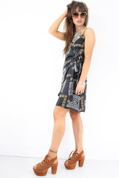 Here Comes The Moon Wrap Dress