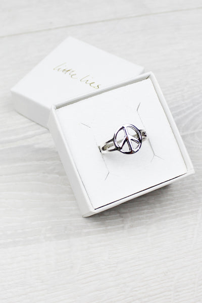 Sterling Silver Small Peace Ring