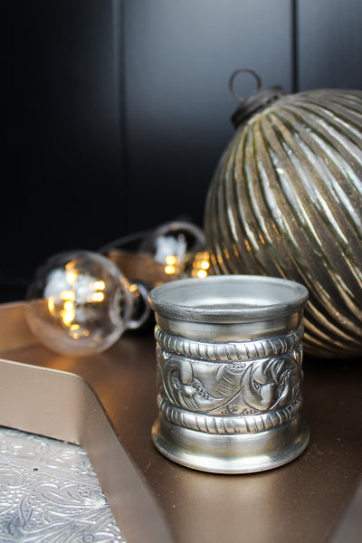 Hammered Silver Pot