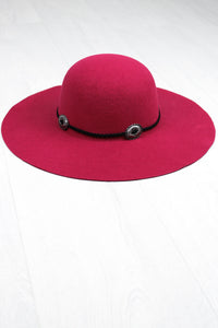 Cherry Bomb Concho Floppy Hat