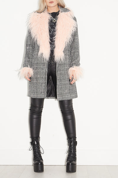 Lola Faux Mongolian Collar Coat