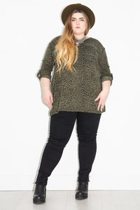 Out of the Black Leopard Knit | Plus
