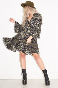 Go Your Own Way Leopard Smock