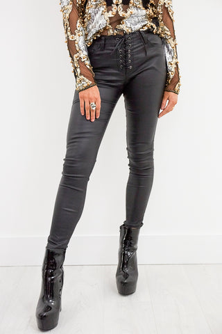 Runaway Lace Up Leathers
