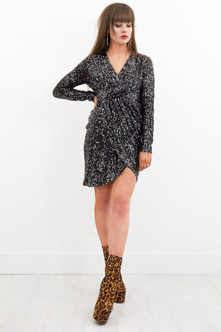 Jeepster Sequin Wrap Dress