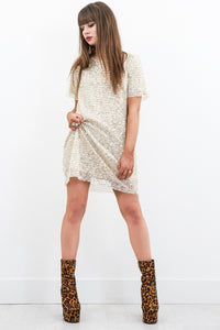 Teenage Rampage Sequin Tshirt Dress