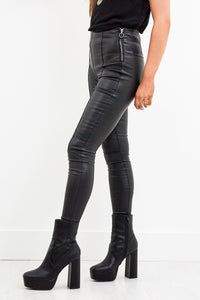 Black Dog Leather Leggings
