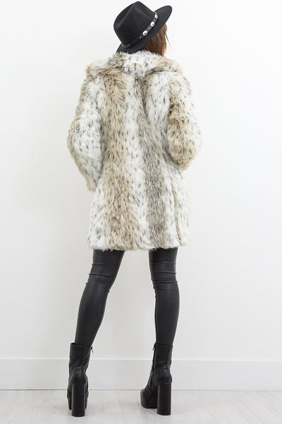 Maggie May Snow Leopard Faux Fur