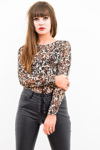 Atomic Sheer Leopard Top