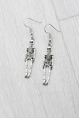 Silver Bones Earrings - little-lies-uk