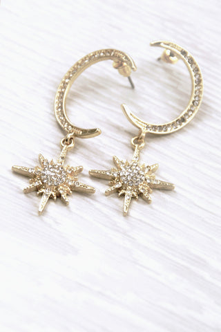 Celestial Moon + Star Earrings - little-lies-uk