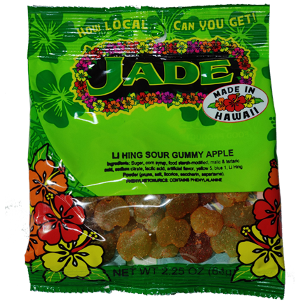 JADE Li Hing Sour Apples (M) - Jade Food Products Inc