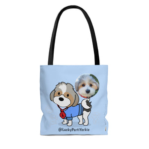 LuckyPartiYorkie Tote with Photo