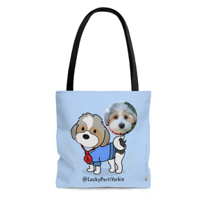 Open image in slideshow, LuckyPartiYorkie Tote with Photo