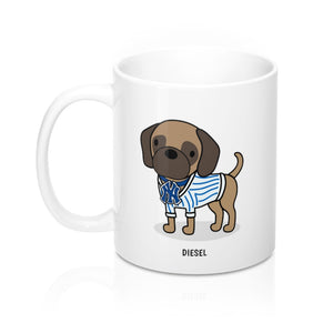 Open image in slideshow, Diesel the Puggle Mug 11oz