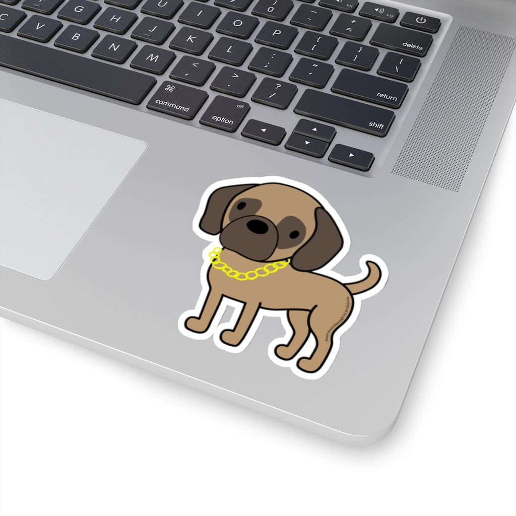 Diesel the Puggle Kiss-Cut Stickers