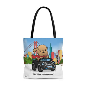 Open image in slideshow, Tofu Takes San Francisco! Tote Bag