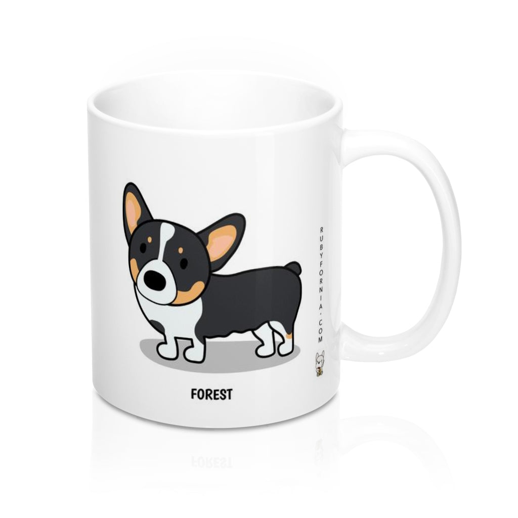 Forest the Corgia Mug 11oz