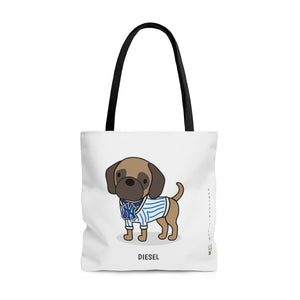 Open image in slideshow, Diesel the Puggle Tote Bag