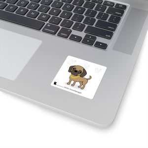 Open image in slideshow, Diesel the Puggle Square Stickers