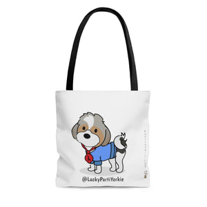 Open image in slideshow, LuckyPartiYorkie Tote (White)