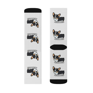 Forest the Corgi Sublimation Socks