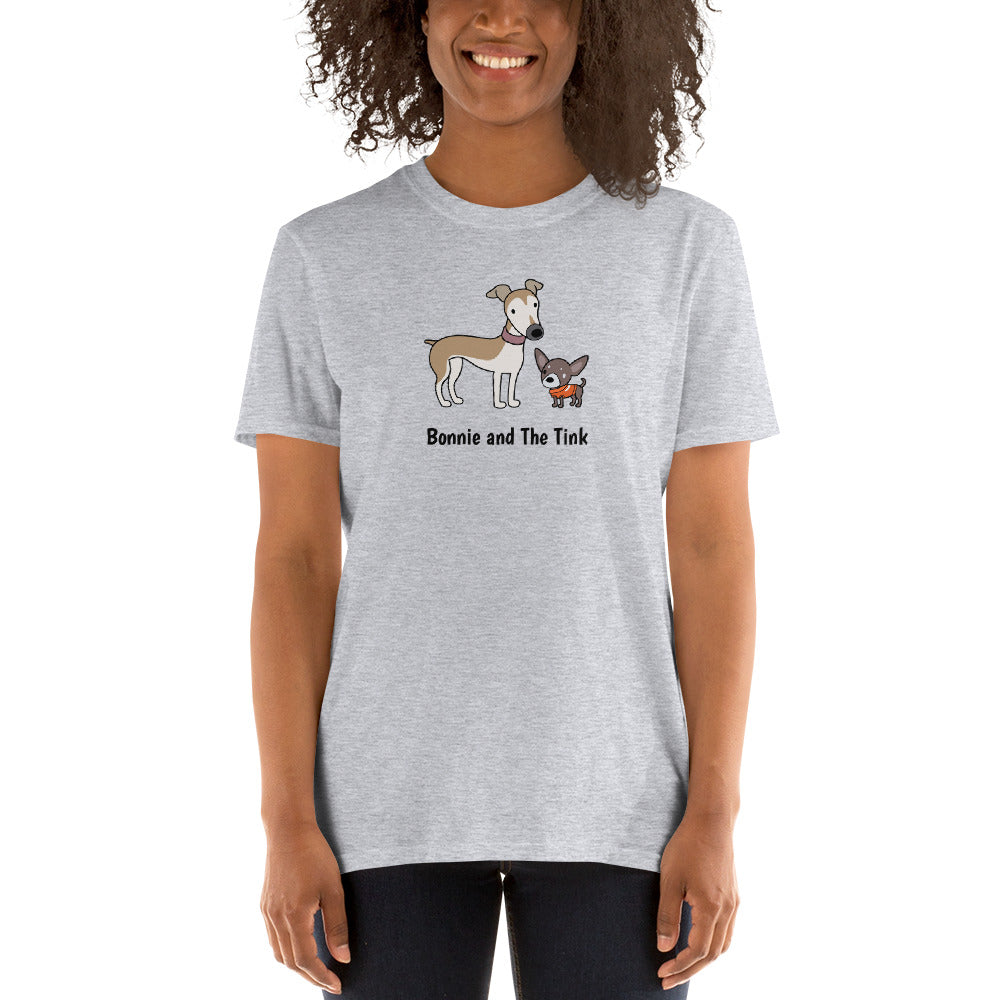 Personalized Greyhound and Chihuahua Short-Sleeve T-Shirt