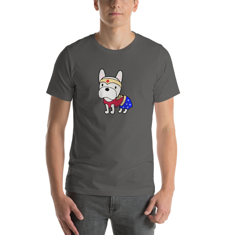 Superhero French Bulldog Wonder Short-Sleeve Unisex T-Shirt