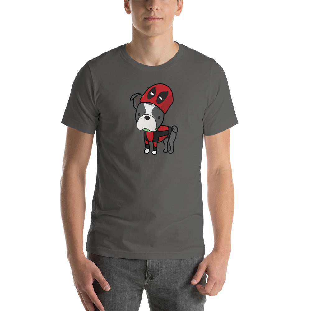 Superhero or Antihero? Boston Terrier Short-Sleeve Unisex T-Shirt