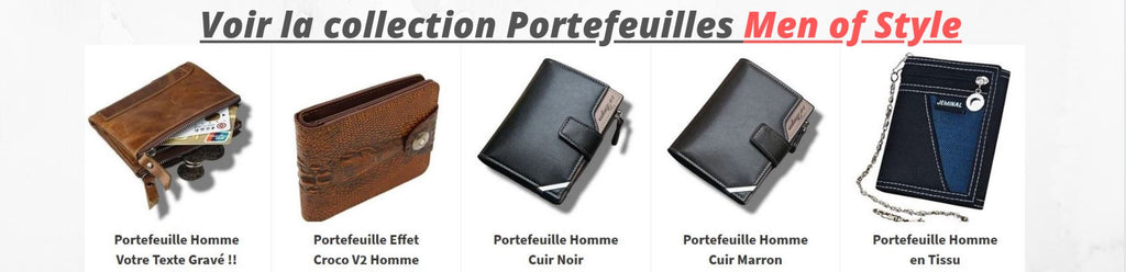 Collection portefeuilles homme MEN OF STYLE