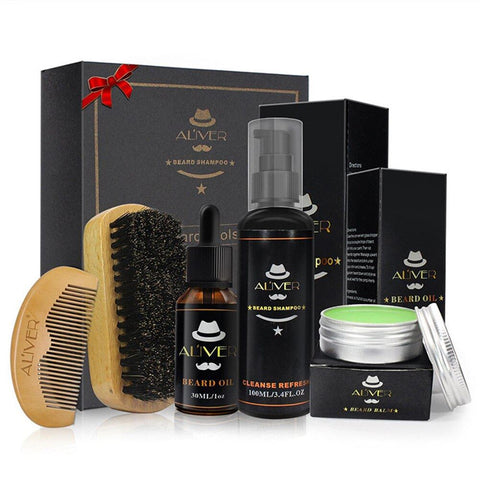 KIT soin barbe avec 5 pièces - menofstyle