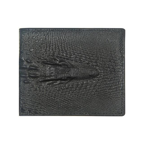 Portefeuille Crocodile Homme Noir | Men of Style