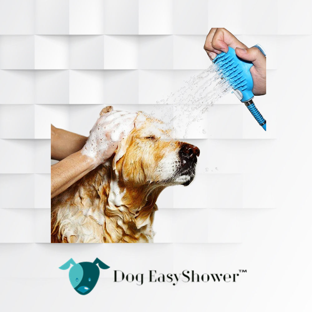 "Dog EasyShower™  | ""Spray & Scrub"" indossabile per lavare il tuo amico a 4 Zampe"