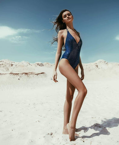 Arysa blue diamond one piece swimwear